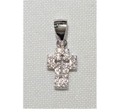Cross Swarovski Sterling Silver Necklace (SN-903323)