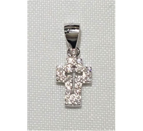 Cross Swarovski Sterling Silver Necklace (SN-903323)