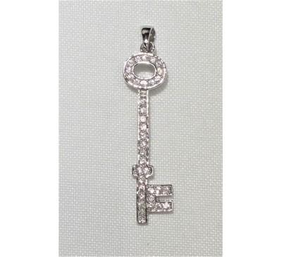 Swarovski Key Sterling Silver Necklace (SN-903368)