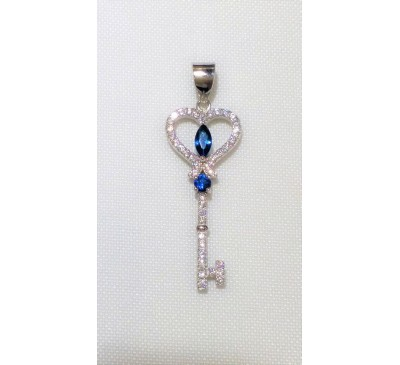 Swarovski Key Sterling Silver Necklace (SN-903380)
