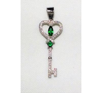 Swarovski Key Sterling Silver Necklace (SN-903381)