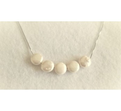 Infiniti Coin Pearl Sterling Necklace (SN-905097)