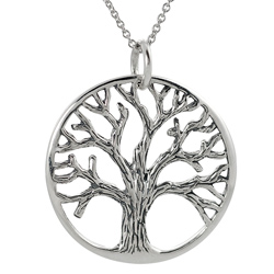 Tree Of Life Sterling Silver Necklace Sn 903253
